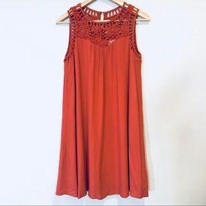 Altar'd State burnt orange sleeveless knit dress